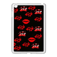 Love Red Hearts Love Flowers Art Apple Ipad Mini Case (white)