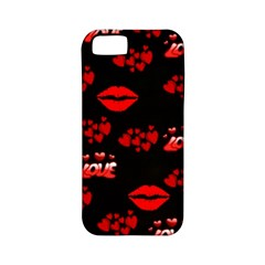 Love Red Hearts Love Flowers Art Apple iPhone 5 Classic Hardshell Case (PC+Silicone)