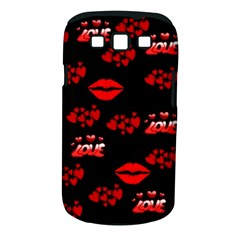 Love Red Hearts Love Flowers Art Samsung Galaxy S III Classic Hardshell Case (PC+Silicone)
