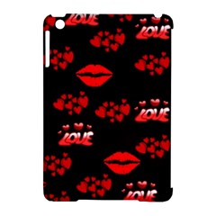 Love Red Hearts Love Flowers Art Apple iPad Mini Hardshell Case (Compatible with Smart Cover)