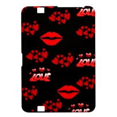 Love Red Hearts Love Flowers Art Kindle Fire HD 8.9  Hardshell Case