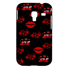 Love Red Hearts Love Flowers Art Samsung Galaxy Ace Plus S7500 Case