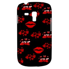 Love Red Hearts Love Flowers Art Samsung Galaxy S3 MINI I8190 Hardshell Case