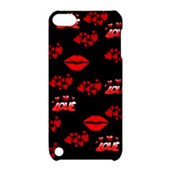Love Red Hearts Love Flowers Art Apple iPod Touch 5 Hardshell Case with Stand