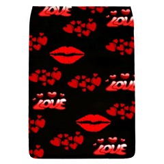 Love Red Hearts Love Flowers Art Removable Flap Cover (Small)