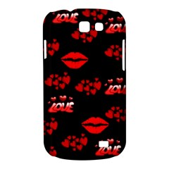 Love Red Hearts Love Flowers Art Samsung Galaxy Express Hardshell Case