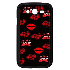 Love Red Hearts Love Flowers Art Samsung Galaxy Grand DUOS I9082 Case (Black)