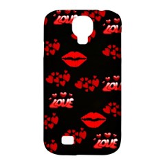 Love Red Hearts Love Flowers Art Samsung Galaxy S4 Classic Hardshell Case (PC+Silicone)