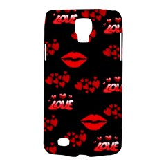 Love Red Hearts Love Flowers Art Samsung Galaxy S4 Active (I9295) Hardshell Case