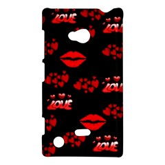 Love Red Hearts Love Flowers Art Nokia Lumia 720 Hardshell Case