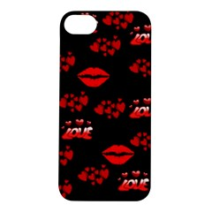 Love Red Hearts Love Flowers Art Apple iPhone 5S Hardshell Case