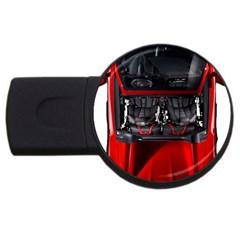 Ferrari Sport Car Red 1GB USB Flash Drive (Round)