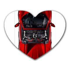 Ferrari Sport Car Red Mouse Pad (Heart)