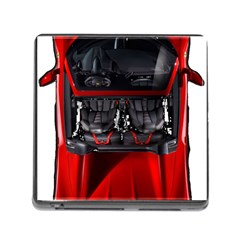 Ferrari Sport Car Red Memory Card Reader with Storage (Square)
