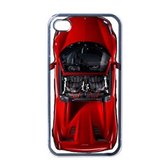 Ferrari Sport Car Red Apple Iphone 4 Case (black)