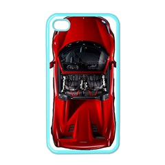Ferrari Sport Car Red Apple Iphone 4 Case (color)