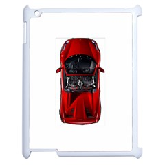 Ferrari Sport Car Red Apple iPad 2 Case (White)