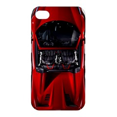 Ferrari Sport Car Red Apple Iphone 4/4s Hardshell Case