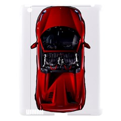 Ferrari Sport Car Red Apple iPad 3/4 Hardshell Case (Compatible with Smart Cover)