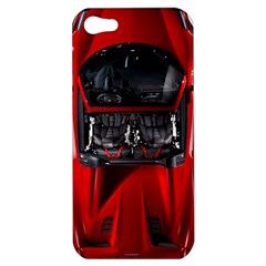 Ferrari Sport Car Red Apple Iphone 5 Hardshell Case