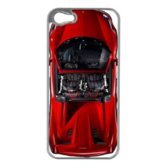 Ferrari Sport Car Red Apple iPhone 5 Case (Silver)