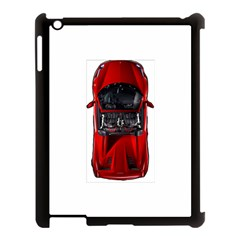 Ferrari Sport Car Red Apple iPad 3/4 Case (Black)