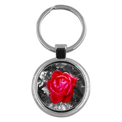 Red Rose Key Chain (round)