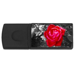 Red Rose 1GB USB Flash Drive (Rectangle)