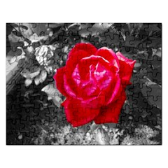 Red Rose Jigsaw Puzzle (Rectangle)