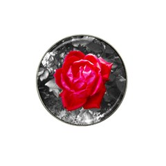 Red Rose Golf Ball Marker 4 Pack (for Hat Clip)