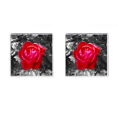 Red Rose Cufflinks (Square)