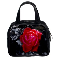 Red Rose Classic Handbag (two Sides)