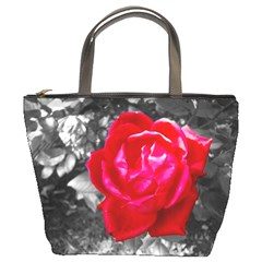 Red Rose Bucket Handbag