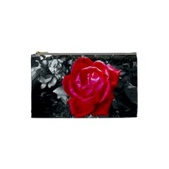 Red Rose Cosmetic Bag (Small)
