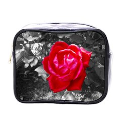 Red Rose Mini Travel Toiletry Bag (One Side)