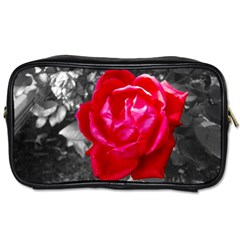 Red Rose Travel Toiletry Bag (one Side)