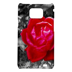 Red Rose Samsung Galaxy S II i9100 Hardshell Case