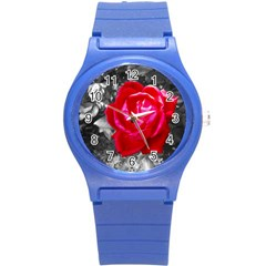 Red Rose Plastic Sport Watch (Small)