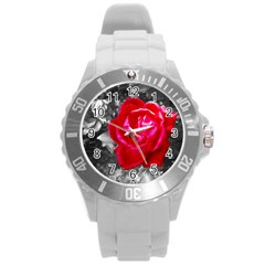 Red Rose Plastic Sport Watch (Large)