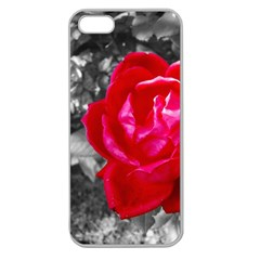 Red Rose Apple Seamless Iphone 5 Case (clear)