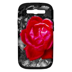 Red Rose Samsung Galaxy S Iii Hardshell Case (pc+silicone)