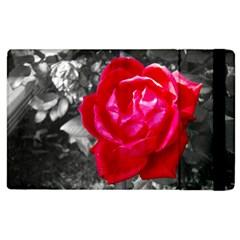 Red Rose Apple iPad 3/4 Flip Case