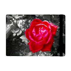 Red Rose Apple iPad Mini Flip Case