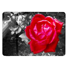 Red Rose Samsung Galaxy Tab 8 9  P7300 Flip Case