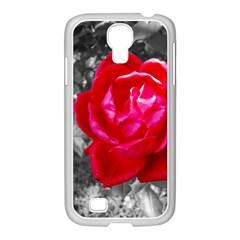 Red Rose Samsung GALAXY S4 I9500/ I9505 Case (White)
