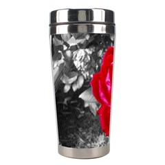 Red Rose Stainless Steel Travel Tumbler