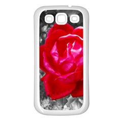 Red Rose Samsung Galaxy S3 Back Case (White)