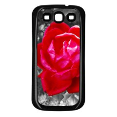 Red Rose Samsung Galaxy S3 Back Case (black)