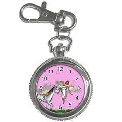 Unicorn And Fairy In A Grass Field And Sparkles Key Chain & Watch
