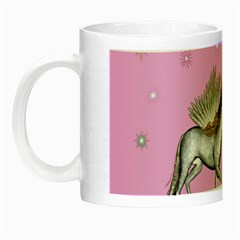Unicorn And Fairy In A Grass Field And Sparkles Glow In The Dark Mug